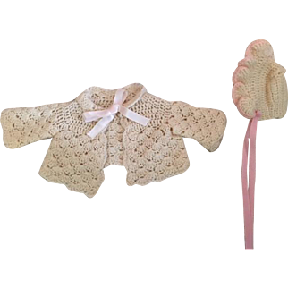 Baby Doll Sweater and Bonnet for Dy-Dee Baby and friends 1950