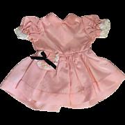Pink Taffeta Dress for Hard Plastic Dolls 1950s