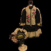 Stunning Complete Dress Ensemble for French Bebe Jumeau Bru SFBJ Doll