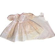 Pink Organdy Flocked Doll Dress and Slip fits Dy-Dee Lu 1950s