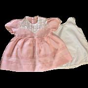 Pink Taffeta Doll Dress Small Playpals 1950s