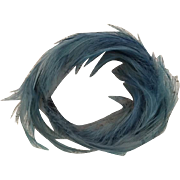 Turquoise Feather Bandeau Hat for Fashion Dolls