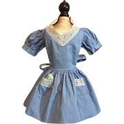 Blue Doll Dress for Large Walkers such as Paris Walkers 1950s