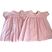 Two Twin Vintage Dresses for Small Playpals Penny Playpal