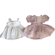 Lavender Dimity Dress and Slip for Hard Plastic and Composition Dolls.
