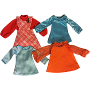 Four Ideal Crissy Dresses Un-Used 1970