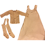 Antique Slip, Baby Shirt, Knee Socks, and Hose Supporters Babies-Great for dolls too! 1908