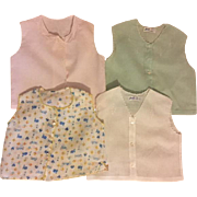 Four Vintage Cotton Baby Shirts 1940s