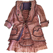 Exquisite Silk Dress for French Bebe Steiner  Jumeau Bru
