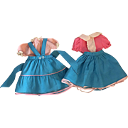 """Two Sets of Pink and Blue Outfits for Hard Plastic """"Toni"""" Dolls and Friends"""