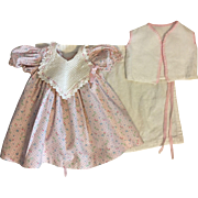 Pink Dress, Flannel Diaper and Bed Vest for Dy-Dee Lou 1950s