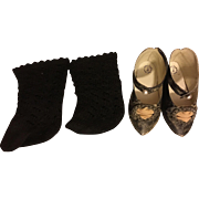 Black shoes and Socks for French or German Bebe
