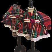 Two Ideal Velvet Doll Dresses