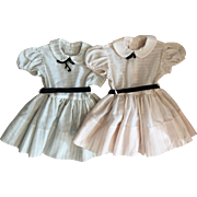 Two Vintage Matching Dresses for Patti Playpal 1950s