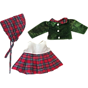 Three Piece Ensemble for Composition and Hard Plastic Dolls 1940s