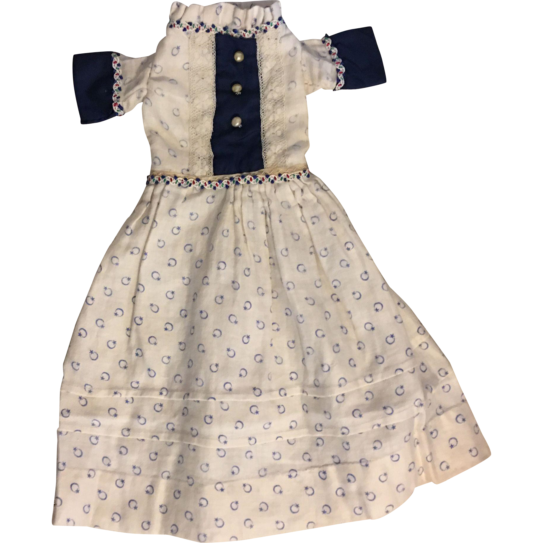 Antique Doll Dress for Bisque Dolls 1890
