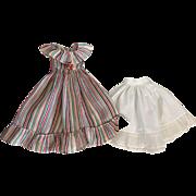 Dimity Floor-Length Dress for Composition Dolls 1930s