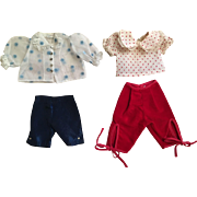 Two Fashion Doll Capri Outfits 1950s