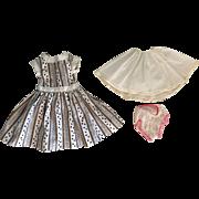 Fashion Doll Dress, Slip, Underwear for 15 inch Miss Revlon, Toni, and Friends 1950s