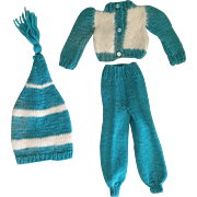 Three Piece Mary Hoyer Cross Country Skier Outfit 1950s