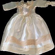 Wedding Dress and Veil for Hard Plastic  Dolls 1950s