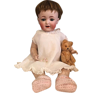 Three Piece Batiste Dress Ensemble Bisque and Composition Dolls 1920