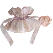 Pink Organdy American Character Petite Sally Dress 1930
