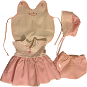 American Character Tiny Tears Dress, Bonnet, Underwear and Signature Romper 1950s