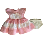 Pink and White Gingham Dress and Underwear for Big Babies like Dy-Dee Lou