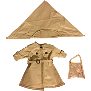Ideal Shirley Temple Raincoat, Hat, Purse 1950s