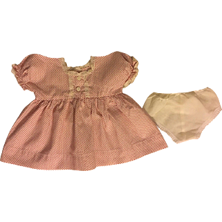 Red and White Polka Dot Dress for Dy-Dee Lou and Fat Babies 1950s