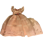 Pink Organdy Gown for Hard Plastic and Composition Dolls 1940