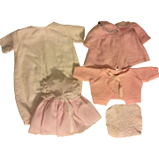 Five Piece Layette for Dy-Dee Baby and Friends 1950s