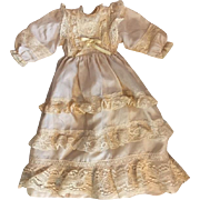 Silk Ensemble with Bonnet for Baby and Toddler Dolls