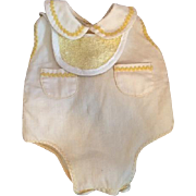Yellow Pique Romper for Babies like Tiny Tears 1950s