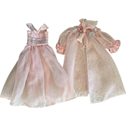 Two Piece Frilly Lingerie Set for Fashion Dolls 1950s