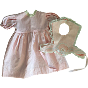 Two Piece Dress for Big Baby Dolls 1940