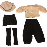 Five Piece Outfit for Bisque Boy Dolls