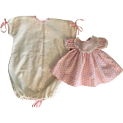 Dy-Dee Baby Dress and Flannel Sacque 1950s