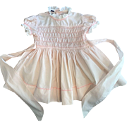 Lovely Pink Polly Flinders Smocked Dress for Patti Playpal 1950s