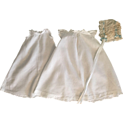 Christening Gown, Slip, and Bonnet for Bisque Baby Dolls 1910