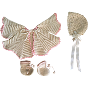 Sweater Set for Baby Dolls Bisque, Hard Plastic, Rubber 1940