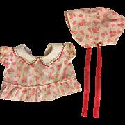 Original Effanbee Patsy Dress and Bonnet 1930's.