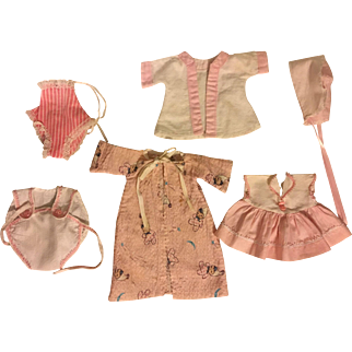 Six Piece Layette for Effanbee Dy-Dee and American Character Tiny Tears 1950s