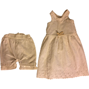 Antique Whole Slip and Bloomers for French or German Bisque