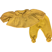 Yellow Corduroy Shortie Jacket and Footed Pants for Dy-Dee Lou and friends 1950s