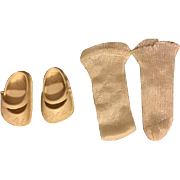 Ideal Embossed Toni Shoes and Rayon Socks 1950s