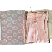 Mint in Box I. Magnin Pink Silk Baby Robe 1950s