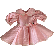 Pink Pique Dress for Large Toddlers and Girl Dolls 1950s