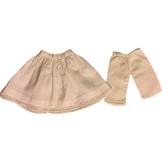 Antique Slip and Pantaloons for Bisque Dolls 1890